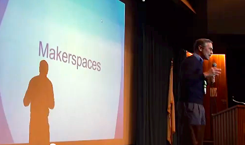 My recurring theme, getting makerspaces into the key learning institutions of society.